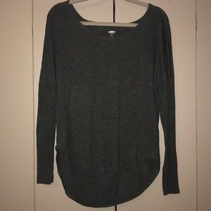 Gray Old Navy Long sleeve T-shirt